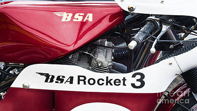 Photograph - Bsa Rocket 3 by Tim Gainey