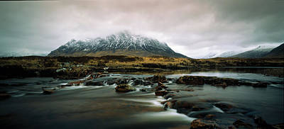 Buachaille Photograph - Buachaille Etive Moor Glencoe Highlands by Panoramic Images