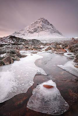 Etive Mor Photograph - Buachaille Etive Mor Winter by Grant Glendinning