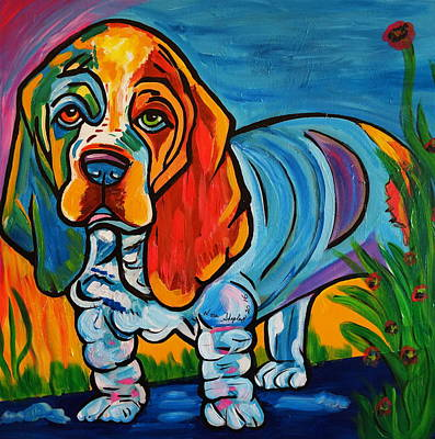 Painting - Bubba   Basset Hound by Nora Shepley