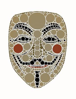 Esoteric Digital Art - Bubble Art Anonymous Vendeta by John Springfield