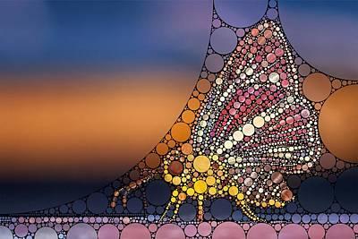 Bee Digital Art - Bubble Art Butterfly by Esoterica Art Agency