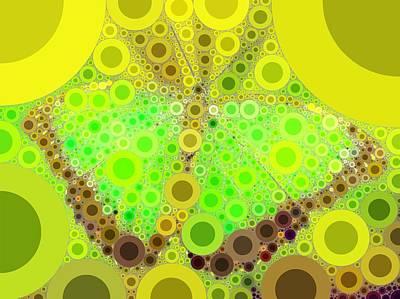 Bee Digital Art - Bubble Art Butterfly by John Springfield