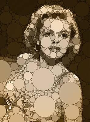 Animals Digital Art - Bubble Art Judy Garland by Esoterica Art Agency