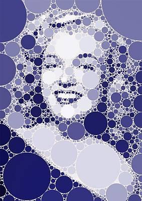 Animals Digital Art - Bubble Art Marilyn Monroe by Esoterica Art Agency