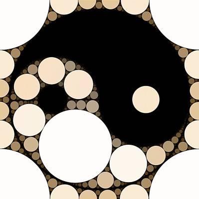 Esoteric Digital Art - Bubble Art Yin Yang by John Springfield