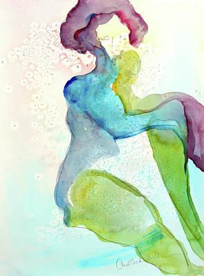 Painting - Bubble Bath by Carol Schindelheim
