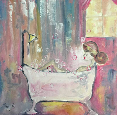 Abstract Painting - Bubble Bath by Roxy Rich