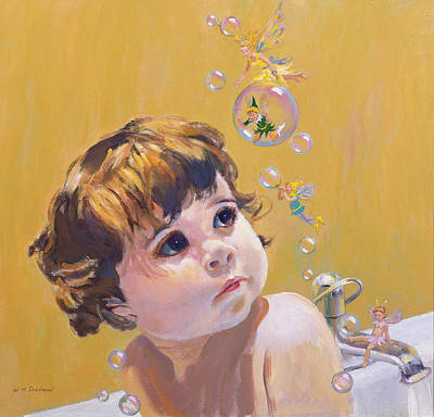 Fairies Painting - Bubble Bath by William Ireland