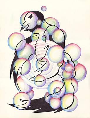 Digital Art - Bubble Birds by Darren Cannell