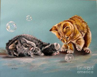 Pastel - Bubble Cats by Tony Calleja