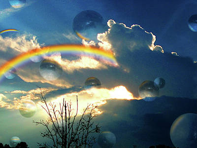 Photograph - Bubble Clouds by Jan Marvin