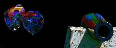 Digital Art - Bubble Day At The Library by Cliff Wilson