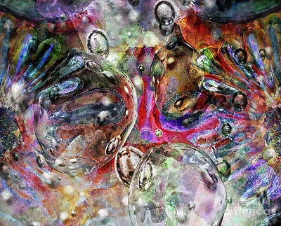 Mixed Media - Bubble Dream Abstract by Jolanta Anna Karolska