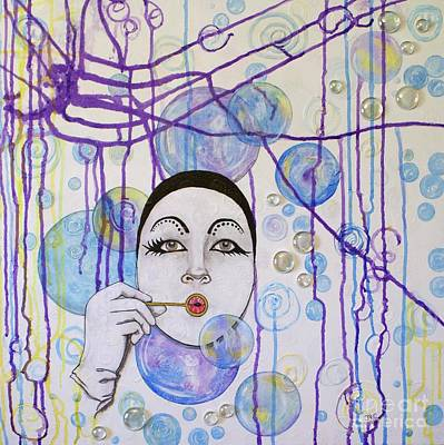 Mixed Media - Bubble Dreams by Jane Chesnut