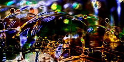 Digital Photograph - Bubble Landscape 2 by David Patterson