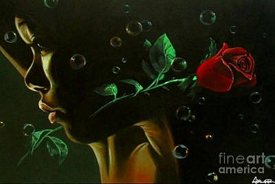 Painting - Bubble Love by Addonis Parker