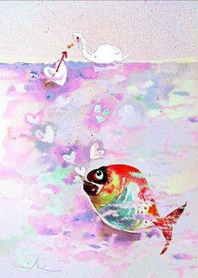 Venice Beach Bungalow - Bubble Love by Miki De Goodaboom
