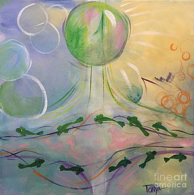 Painting - Bubble Of Light by Tonya Henderson