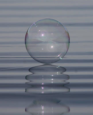 Photograph - Bubble On Ripples by Cathie Douglas