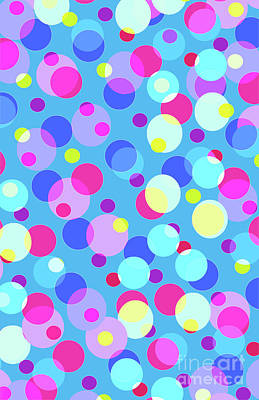 Overlay Digital Art - Bubble Pop by Louisa Knight