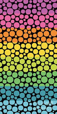 Bubble Rainbow Art Print by Edward Fielding
