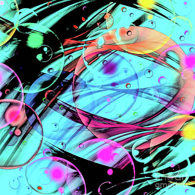 Abstract Digital Photograph - Bubble Scape by Tod and Cynthia Grubbs