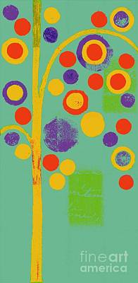 Bubble Tree - 290r - Pop 01 Art Print by Variance Collections