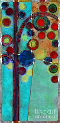 Painting - Bubble Tree - 7546r2 by Variance Collections