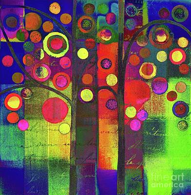 Painting - Bubble Tree Duo - 5501b by Variance Collections