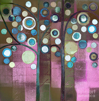 Painting - Bubble Tree Duo - 5507c by Variance Collections
