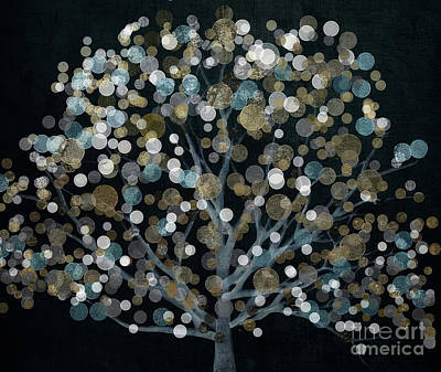 Bubble Tree Night Art Print by Mindy Sommers