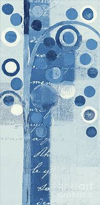 Tree Art Mixed Media - Bubble Tree - S290-01r - Blue by Variance Collections