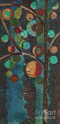 Red Abstracts Painting - Bubble Tree - Spc02bt05 - Left by Variance Collections
