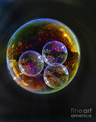 Digital Art - Bubble With Three by Nareeta Martin