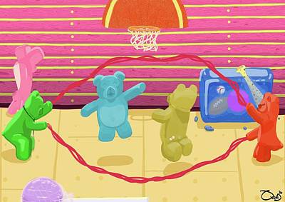 Gummy Digital Art - Bubblegum Bleachers by Quad Johnson