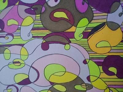 Bubblegum Closeup Art Print