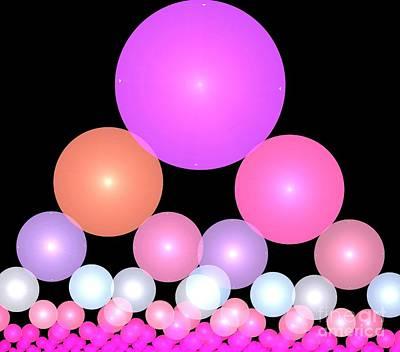 Digital Art - Bubblegum Spheres by Kim Sy Ok