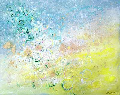 Painting - Bubbles 1 by Gina De Gorna