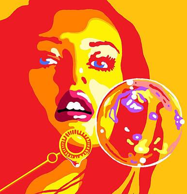 Bubbles 2 Art Print by Heli Luukkanen
