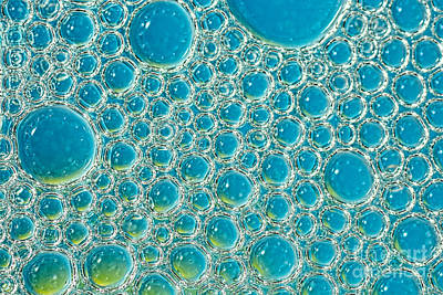Photograph - Bubbles Abstract Turquoise Blue By Kaye Menner by Kaye Menner