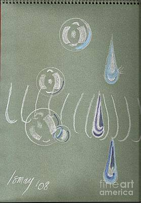 Painting - Bubbles And Tear Drops by Rod Ismay