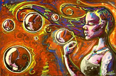 Carolyn Anderson Painting - Bubbles by Carolyn Anderson