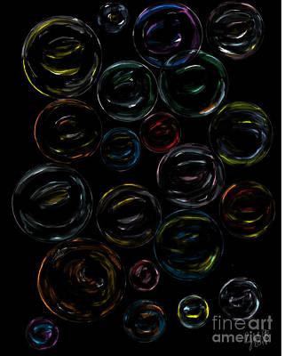 Wall Art - Digital Art - Bubbles by Cybele Chaves