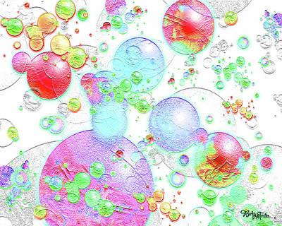 Digital Art - Bubbles For Fun #033 by Barbara Tristan
