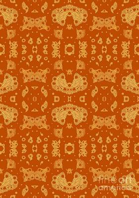 Uplifting Drawing - Bubbles In Harmony - Burnt Orange by Helena Tiainen