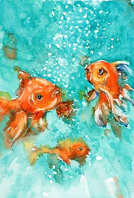 Bubbles Art Print by Judith Levins