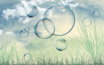 Bubbles Art Print by Karen Kanaby