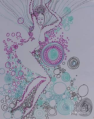 Drawing - Bubbles by Marat Essex