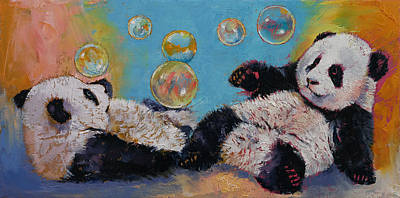 Drunk Painting - Bubbles by Michael Creese